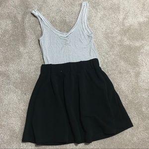 Shein Black Flared Mini Skirt